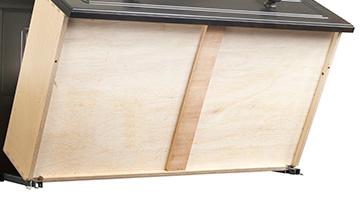 Bottom of wooden stabilizer bars