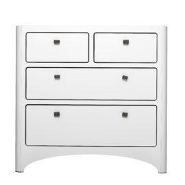 Leander 4 Drawer Dresser in white