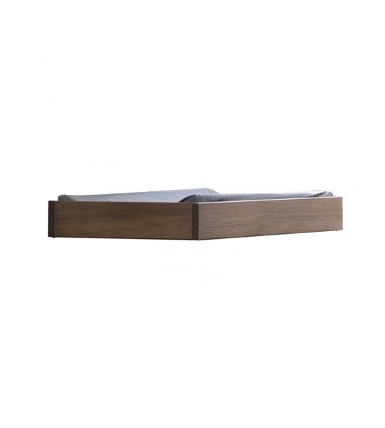 Dark brown walnut wood changing tray