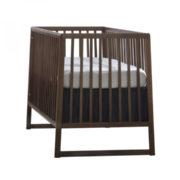 Dark walnut wood classic crib