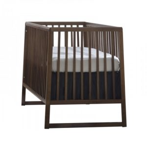 Dark walnut wood classic crib