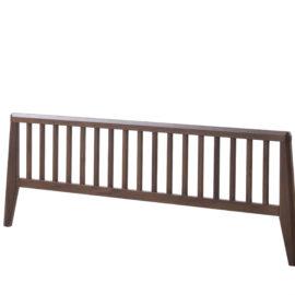 Dark brown wood low profile footboard