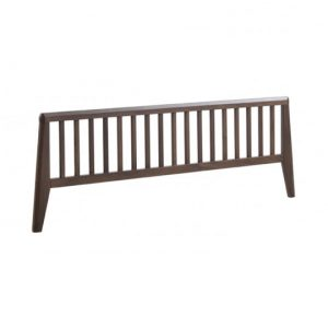 rio dark brown wood low profile footboard for the double bed