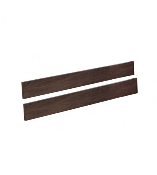 dark brown wood conversion rails