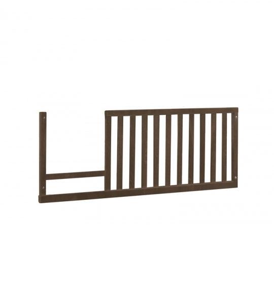 dark brown wood toddler gate