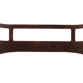 Safety Gate for Junior Bed in a dark brown wood color