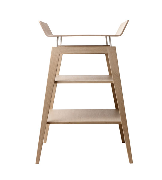 Linea wooden changing table with two shelves