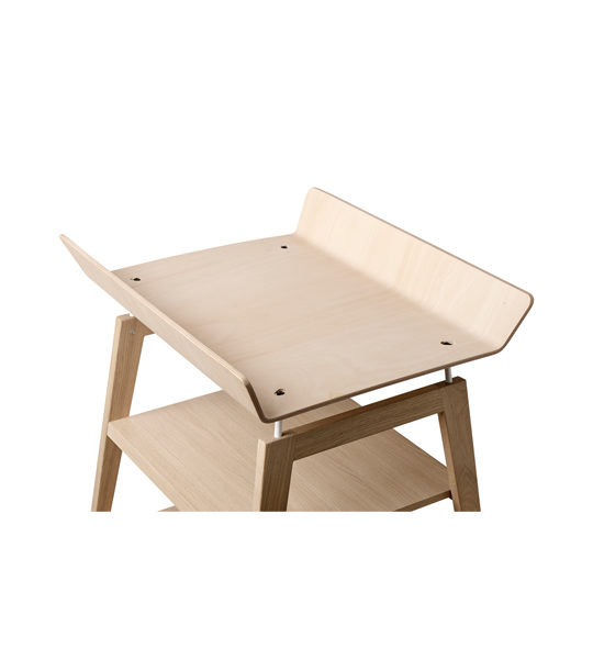 Linea wooden changing table from above