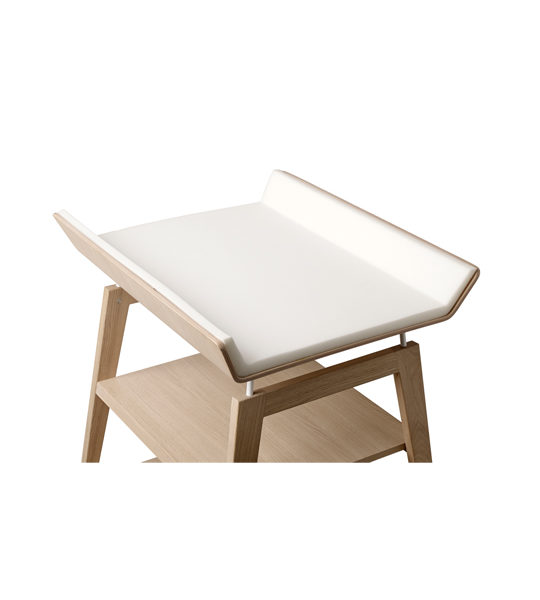 Linea wooden changing table with white mat