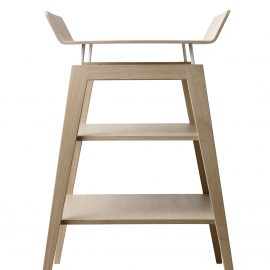 Linea Wooden Changing Table with 2 shelves