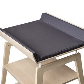 linea wooden changing table with black mat
