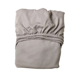 Baby crib folded fitted sheet in grey