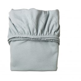 Baby crib folded fitted sheet in blue