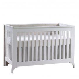 Metro Classic Crib in White and Ash