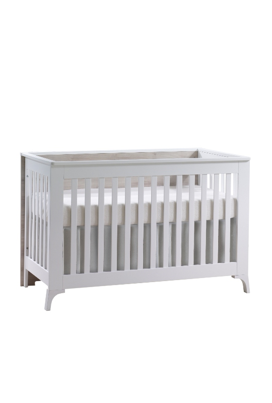 Metro Classic Crib in White and Ash