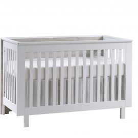 Urban Classic Crib in White and Ash