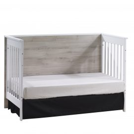 Urban Classic Crib as Daybed in White and Ash