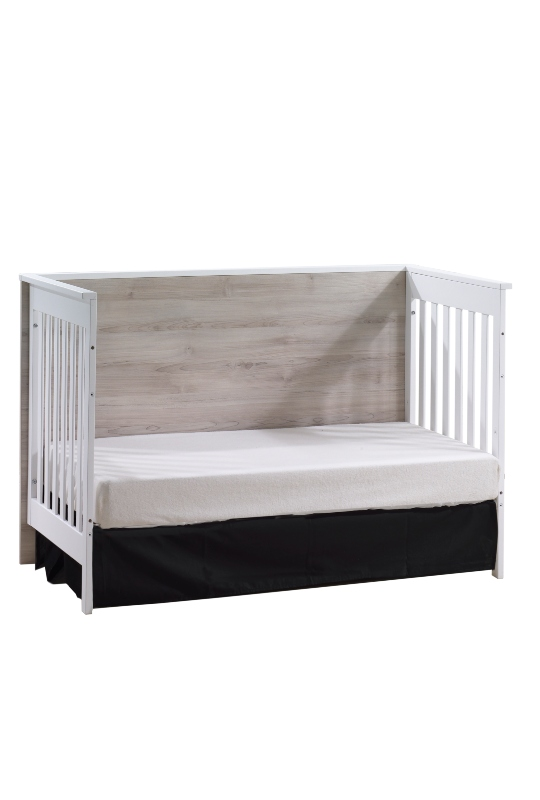 Urban Classic Crib as Daybed in White and Sand