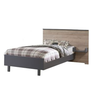 Urban Double Bed in Charcoal and Natural Oak