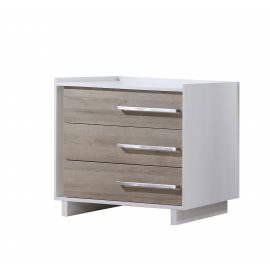 Urban 3 Drawer Dresser in White and natural