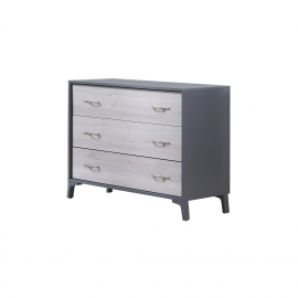Metro 3 Drawer dresser Charcoal / Washed Walnut