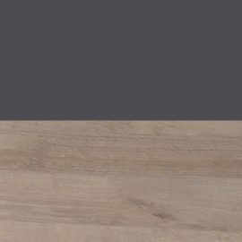 charcoal and natural wood color swatch