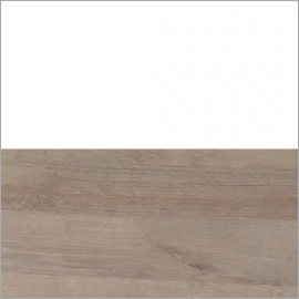 White and Natural wood swatch