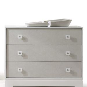 olson 3 drawer dresser xl in white and mosaic